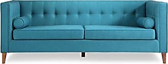 Kardiel JEFFERSON3-URBANSURF Jefferson Mid-Century Modern Sofa with Wood Legs, 31.9 x 33.5 x 83.9, Urban Surf