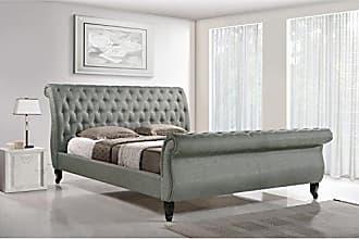 Wholesale Interiors Baxton Studio Antoinette Modern Platform Bed, King, Grey