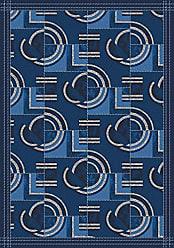 Milliken Carpet Milliken 4000032346 Pastiche Collection Modernes Area Rug 77 x 77 Square Phantom Blue