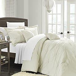 Chic Home 5-Piece Arabella Floral Quilted Applique Comforter Set, Beige, Queen