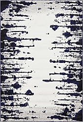 Unique Loom Metro Collection Abstract Vintage Modern Dark Colors Ivory Area Rug (4 x 6)