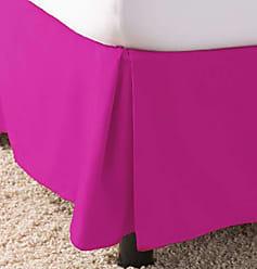 Ben&Jonah Ben & Jonah Simple Elegance 1500 Series Queen Size Solid Bed Skirt with 14 Drop - Hot Pink