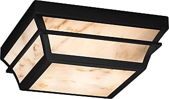 Justice Design Summit 7525W Outdoor Flush Mount Light with Faux Alabaster Shade - FAL-7525W-NCKL