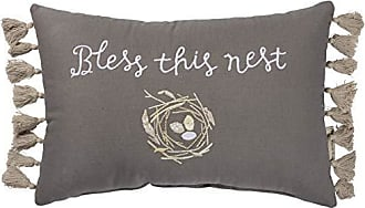 Our Our Nest 25 x 15-Inches Primitives by Kathy Distressed Dark Throw Pillow
