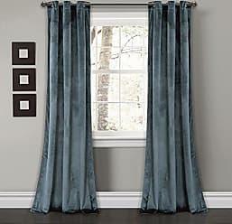 84 x 52 Navy Lush Decor 16T001462 Outdoor Window Curtain Panel Set