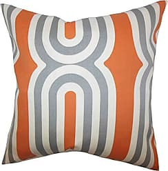 The Pillow Collection Persis Geometric Bedding Sham Orange Queen/20 x 30