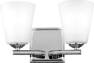 Feiss Pave 2-Light Bath Vanity in Polished Nickel