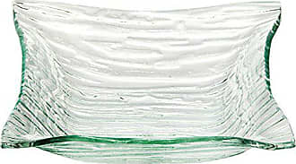 Couronne Company 2055 Monterrey Rectangle Recycled Glass Plate Clear 24 1 Piece