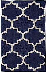 Garland Rug Large Quatrefoil Area Rug, 30 x 46, Indigo/Ivory
