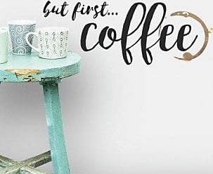 RoomMates RoomMates RMK3654SCS But But First Coffee Quote Peel and Stick Wall Decals, Multi