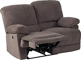 CorLiving LZY-332-L Lea Collection Reclining Loveseat, Grey