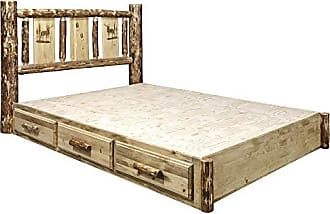Montana Woodworks MWGCSBPFLZELK Homestead Collection Full Platform Bed Stain & Clear Lacquer Finish