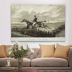 WEXFORD HOME Equine Sketch XXXI Gallery Wrapped Canvas Wall Art, 32x48