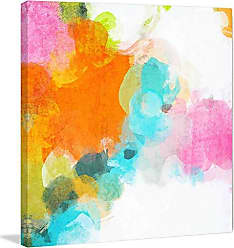 Marmont Hill 24x24 Abstract Rhythms No 217 by Irena Orlov Painting Print on Wrapped Canvas, 24 x 24