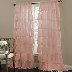 Sweet Home Collection Window Curtains Treatment Panel 63 or 84 Long in Stylish and Unique Patterns and Designs for All Home Décor, Cascading Pink