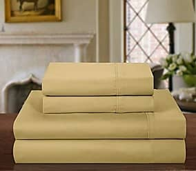 Chic Home 1000 Thread Count 4-Piece Luxury Sheet Set, Solid Gold, King