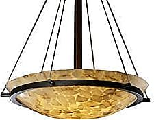 Justice Design Group Alabaster Rocks! Bowl Suspension with Ring-Small