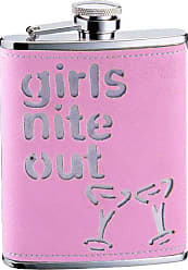 Visol Products VisolGirls Nite Out Leatherette Stainless Steel Hip Flask, 6-Ounce, Pink