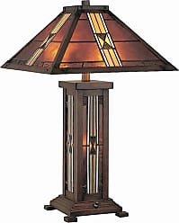 Lite Source Inc. LS-20812 1 Light Table Lamp with Tiffany Shade & Night