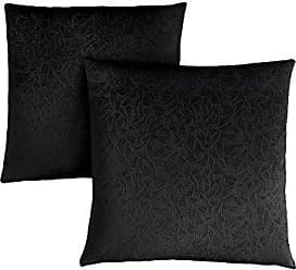 Monarch Specialties Decorative Throw Pillow, Floral Velvet, Black, 2pcs