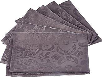 LOVELY CASA Lot de 6 Serviettes Blanc 45x45 cm Polyester