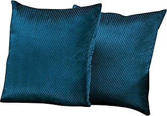 Monarch Specialties Diamond Velvet Decorative Throw Pillow 18 x 18 Steel Blue