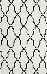Home City Inc. Superior Hand Woven and Soft Shag Rug Trellis Collection, Ivory/Chocolate 5 feet by 8 feet (5 x 8)