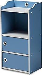 Wholesale Interiors Baxton Studio 146-424-A8285-AMZ Bagnolet Bookcase, Blue/White