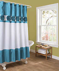 Lush Décor Seascape Shower Curtain, 72 by 72-Inch, Turquoise