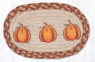 Earth Rugs OMSS-222HP-4 Set of Trivets 7.5x11 Orange