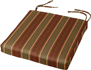 Cushion Source 16 x 16 in. Striped Sunbrella Dining Chair Pad Davidson Redwood - IUESN-5606