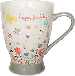 Pavilion Gift Company 74047 Happy Birthday Ceramic Mug, 16 oz, Multicolored