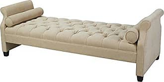 Jennifer Taylor Home Eliza Collection Traditional Hand Tufted Sofa Bed and Hand Rub Finished Wooden Legs, Beige