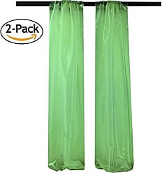 LA Linen Pack-2 Mirror Organza Backdrop, 58 by 96-Inch, Kelly Green, 58 x 96