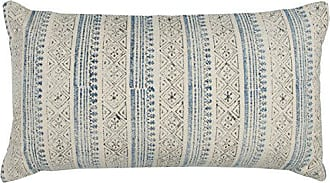 Rizzy Home T12375 Decorative Lumbar Poly Filled Throw Pillow 14 x 26 Blue/Gray