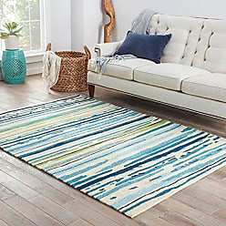 Jaipur Living Sketchy Lines Indoor/ Outdoor Abstract Blue Area Rug (5 X 76)