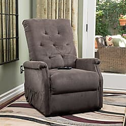 GDF Studio Christopher Knight Home 298312 Warrington Lift Up Recliner Chair, Chocolate