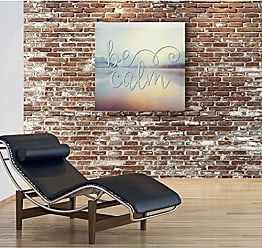 WEXFORD HOME Be Be Calm Gallery Wrapped Canvas Wall Art, 16x16, Be