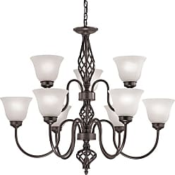 Thomas Lighting 2209CH Santa Fe 9 Light 33 Wide Chandelier with White