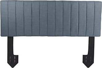 Ashley Furniture Carrie King Channel Tufted Powered Headboard, Dark Gray