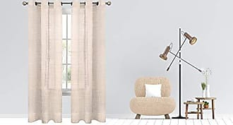 Dainty Home Hannah Linen Look Grommet Panel Pair 76x84 Taupe