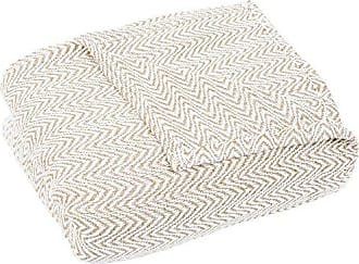 Trademark Global Lavish Home F/Q Blanket-100% Cotton Chevron Luxury Soft Blanket, Full/Queen, Taupe