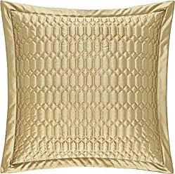 Five Queens Court Saranda Satin Geometric Quilted Euro Pillow Sham, Gold