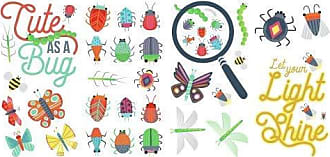 RoomMates RoomMates RMK3683SCS Colorful Bugs Peel and Stick Wall Decals, Multi