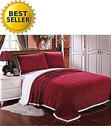 Elegant Comfort Luxury Micro-Sherpa Ultra Plush Warm Heavy-Weight Wave Pattern Blanket, Full/Queen, Burgundy