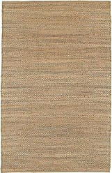L.R. Resources Inc. Natural Fiber Rectangle Plush Indoor Area Rug, 5-Feet 3-Inch x 7-Feet 5-Inch, Medium Gray