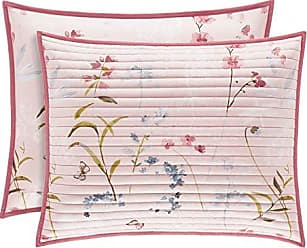 Five Queens Court Blakely Floral Quilted Pillow Sham, Rose, Standard/Queen 20x26