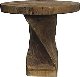 Essential Decor Essential Decor & Beyond EN112556 22.5 Inch Wooden Round Table