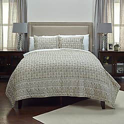 Rizzy Home Pierce Quilt, King, Taupe