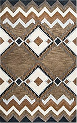 Rizzy Home Tumble Weed Loft Collection Wool Multi/Navy/Blue/Light Blue/Dark Taupe/Camel/Off White Southwest/Tribal Area Rug 8 x 10